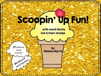 Scoopin' Up Fun with Word Families