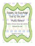 Scoopin' Up Knowledge End of the Year Math Review