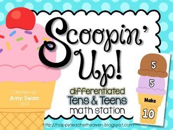 Scoopin' Up - Making Ten & Teens - CCSS DIFFERENTIATED Mat
