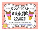 Short Vowel CVC Words Literacy Center: Scooping Up Middle Sounds!