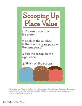 Scoopin' Up Place Value Easy-to-Prep Center