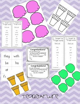 Scoopin' Up Sight Words