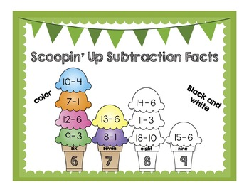 Scoopin' Up Subtraction Facts