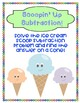 Scoopin Up Subtraction Math Center