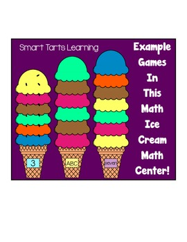 Scoopin' Up the Math Skills Ice Cream Center  {Numbers & Patterns}