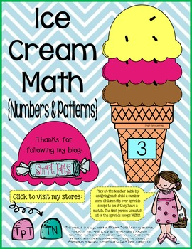 Scoopin' Up the Math Skills Ice Cream Center  {Numbers & P