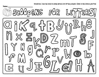 Scooping For Letters