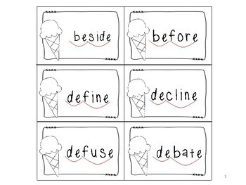 Scooping Words With One Open Syllable and With One Vowel-Consonant-e Syllable