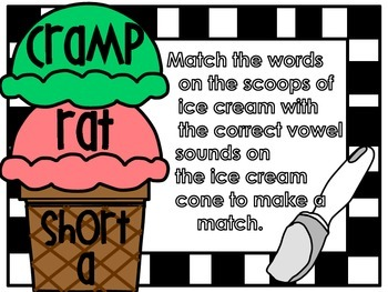 Scooping up Some word sounds - long and short a