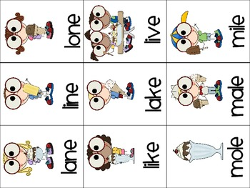 Scoops Galore -Read,Say,Keep and Roll,Say,Write Game(CVCe and CVCe with blends)