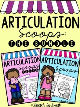 Scoops of Articulation: The Bundle! (Speech Therapy Activities)
