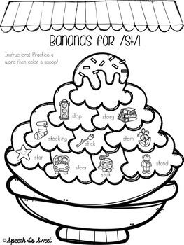 Scoops of Blends: Articulation Coloring Sheets