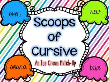 Scoops of Cursive: An Ice Cream Match Up
