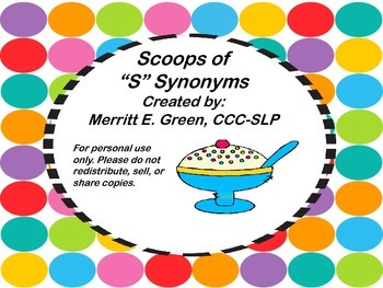 """Scoops of """"S"""" Synonyms"""