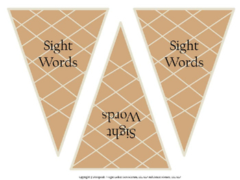 Scoops of Sight Words
