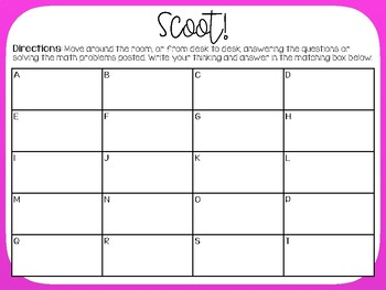 Scoot - 1, 2 or 3 Digit by 1 Digit Multiplication Activity