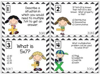 Scoot! 3rd Grade Math Common Core [center task cards]
