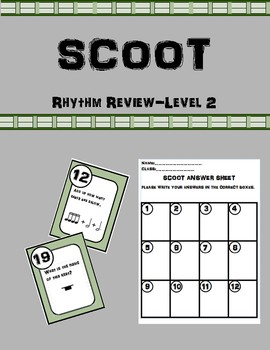 Scoot-A Rhythm Review Activity-Level 2