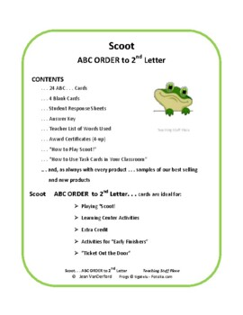 ABC | ABC to 2nd Letter | TASK CARDS | SIGHT WORDS | Gr 2-3 Core Vocabulary