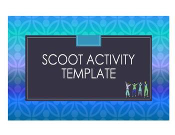 Scoot Activity/Task Card Template That You Can Customize (