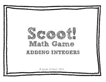 Scoot! [Adding Integers]