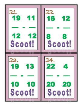 Scoot! Adding & Subtracting Fractions - 2 SETS