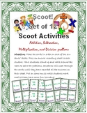 Scoot! Adding, Subtracting, Multiplying, & Dividing - 12 SETS