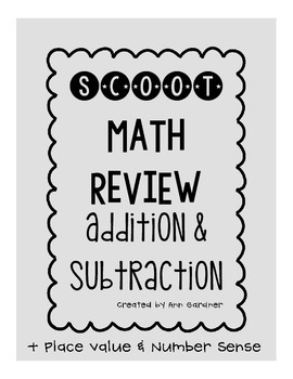 Scoot - Addition & Subtraction - Math Review