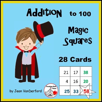 Addition to 100 | MAGIC MATH |Gr 2-3  Self-Checking| Early Finishers |Task Cards