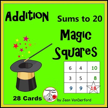 Addition to 20 | Self-Checking | MATH MAGIC | Task Cards | GAME Gr 2