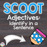 Adjectives Scoot Game | Task Cards