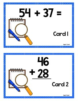 Scoot -Agent Scoot & more... Db. Digit Addition w/regrouping