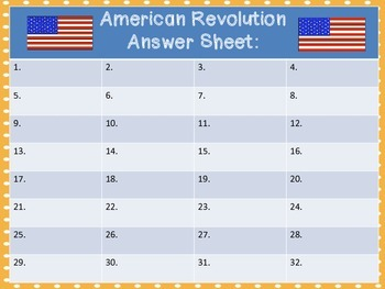 Scoot- American Revolution Task Cards