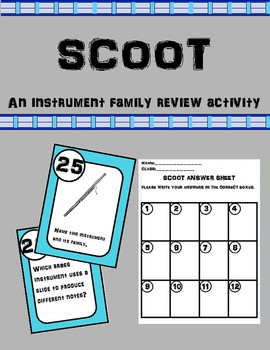 Scoot-An Instrument Family Review Activity