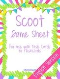 Scoot Answer Sheet - English Version