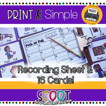FREEBIE Scoot Around the Room: Push or Pull