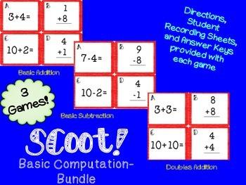 Scoot! Basic Computation Bundle