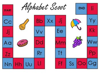 Scoot Board Game (alpabet, diagraphs, and blends)