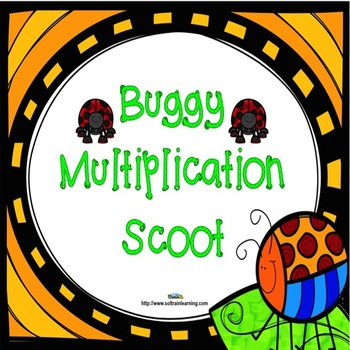 Spring Activities- Multiplication Scoot with cute spring cards