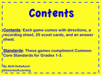 Scoot/Task Card Bundle- 5 Games Included