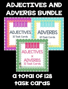 Adjectives and Adverbs Scoot - task cards