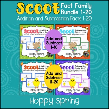 Easter Activities-Four Easter Scoot Games in one Bundle