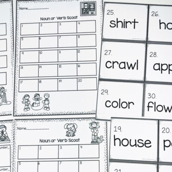 Scoot Bundle- Nouns, Verbs and Adjectives