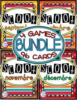 French Vocabulary Game - SCOOT BUNDLE - septembre à décembre