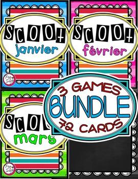 French Vocabulary Game SCOOT BUNDLE  - janvier à mars