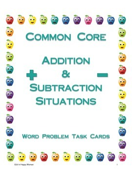 CCSS Addition & Subtraction Task Cards