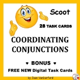 COORDINATING CONJUNCTIONS SCOOT ... Task Cards ... Plus DIGITAL DECK  Gr 3-4-5