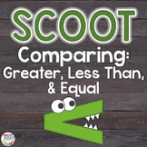 Comparing 2-Digit Numbers Scoot Game