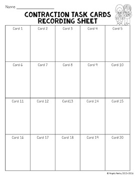 Contractions Task Cards *FREEBIE*