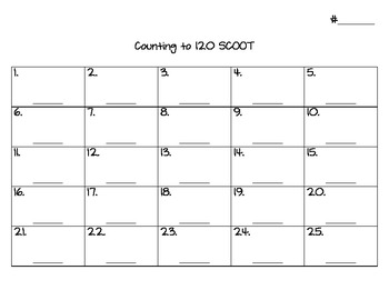 Scoot Counting to 120